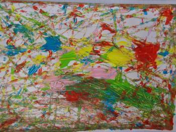Les Cp Ce1 Découvrent Jackson Pollock école Coat Pin De
